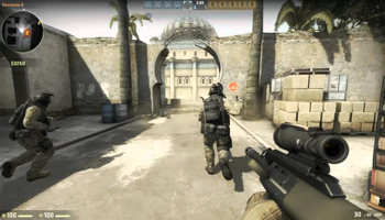 Viser gameplay for Counter-Strike Global Offensive